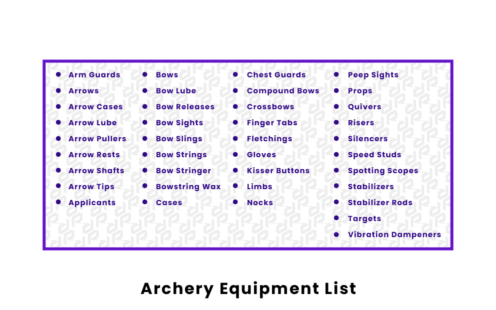 archery-equipment-list