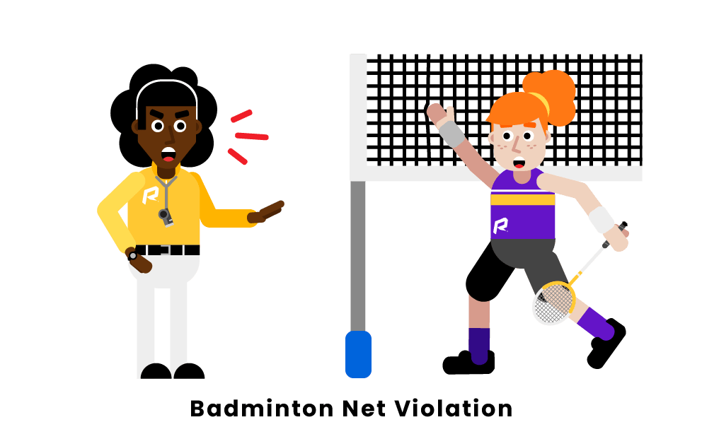 badminton net violation