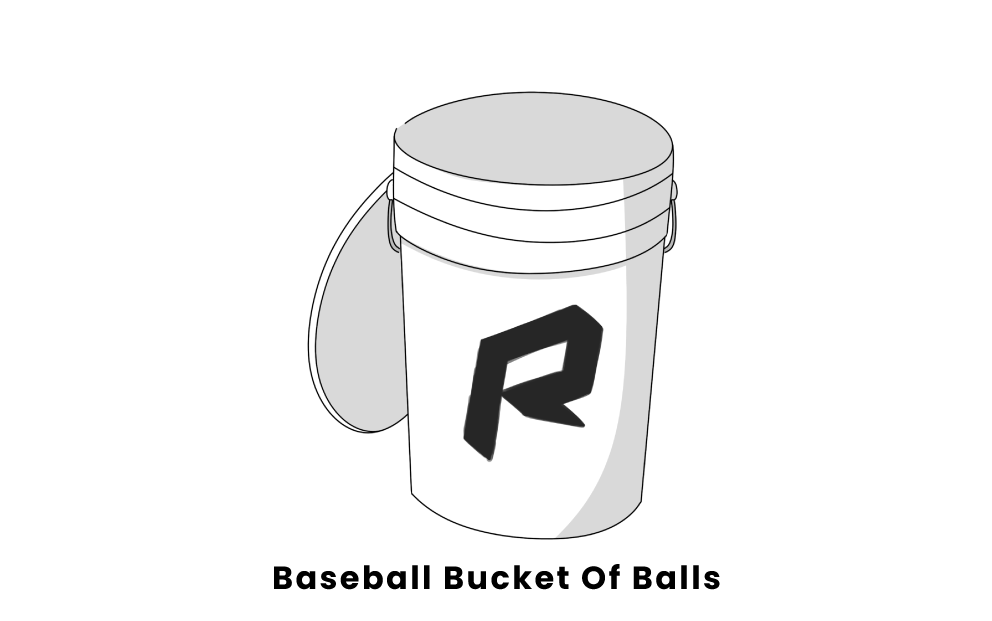 baseball bucket of balls