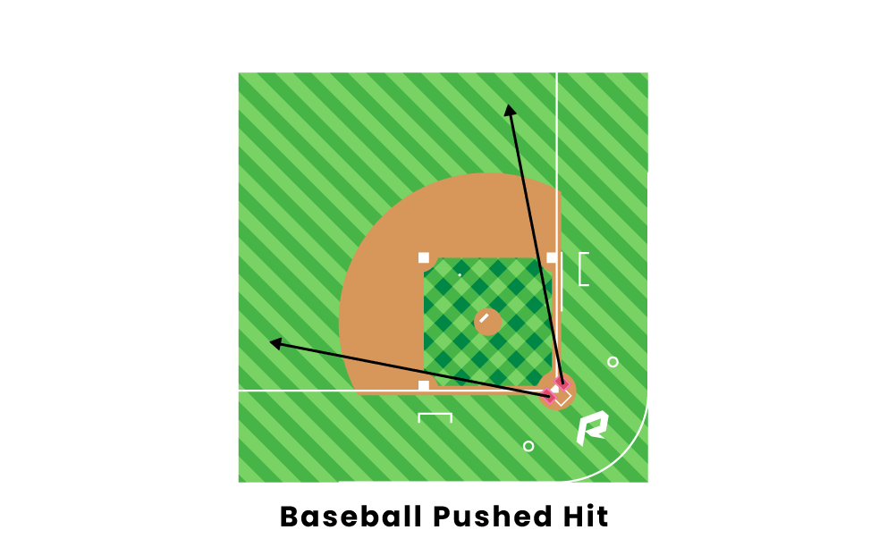Baseball Pushed Hit