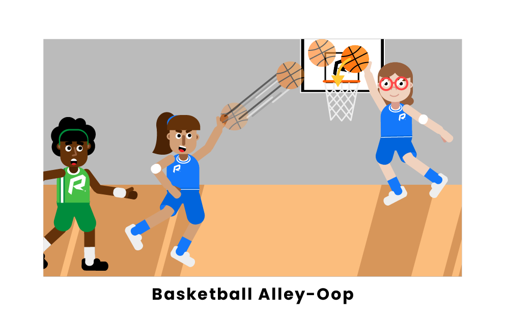 Basketball Alley-Oop