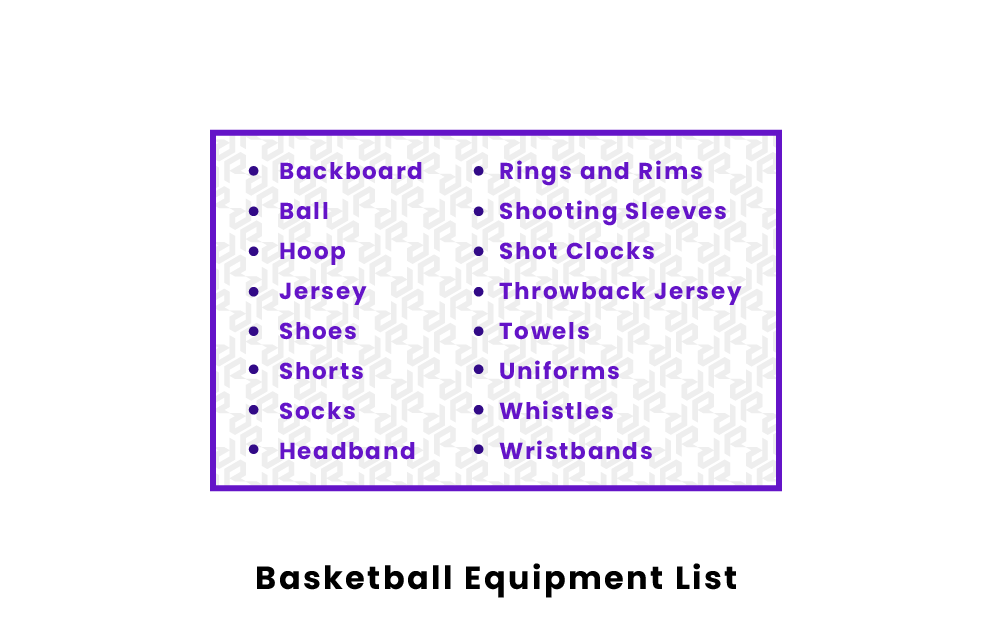 Basketball Equipment list