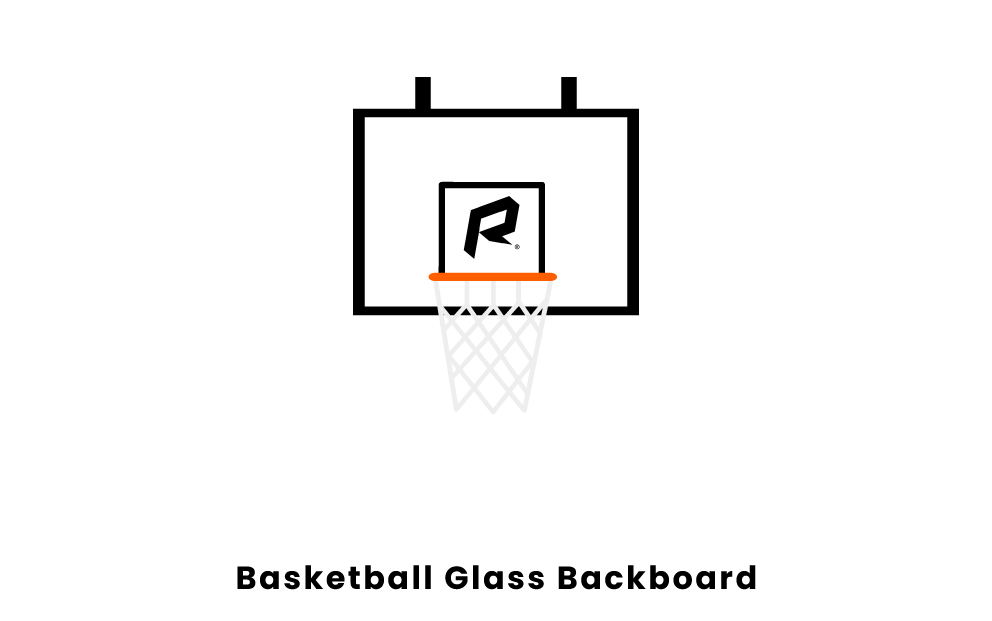 basketball glass backboard