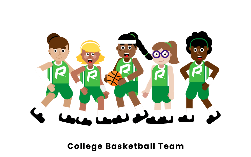College Basketball Team
