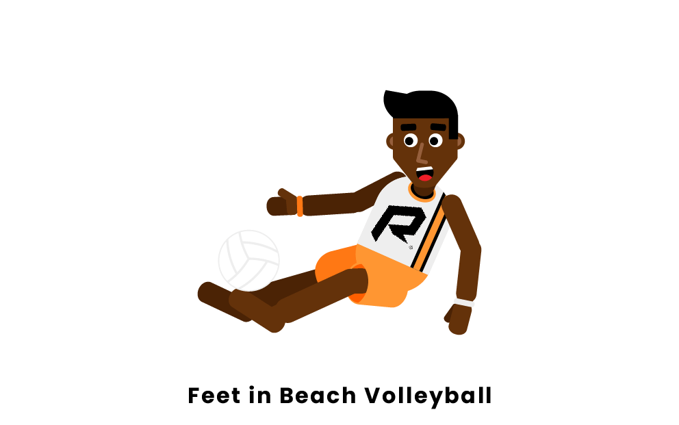 Can You Use Your Feet In Beach Volleyball?