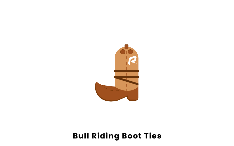Bull Riding Boot Ties