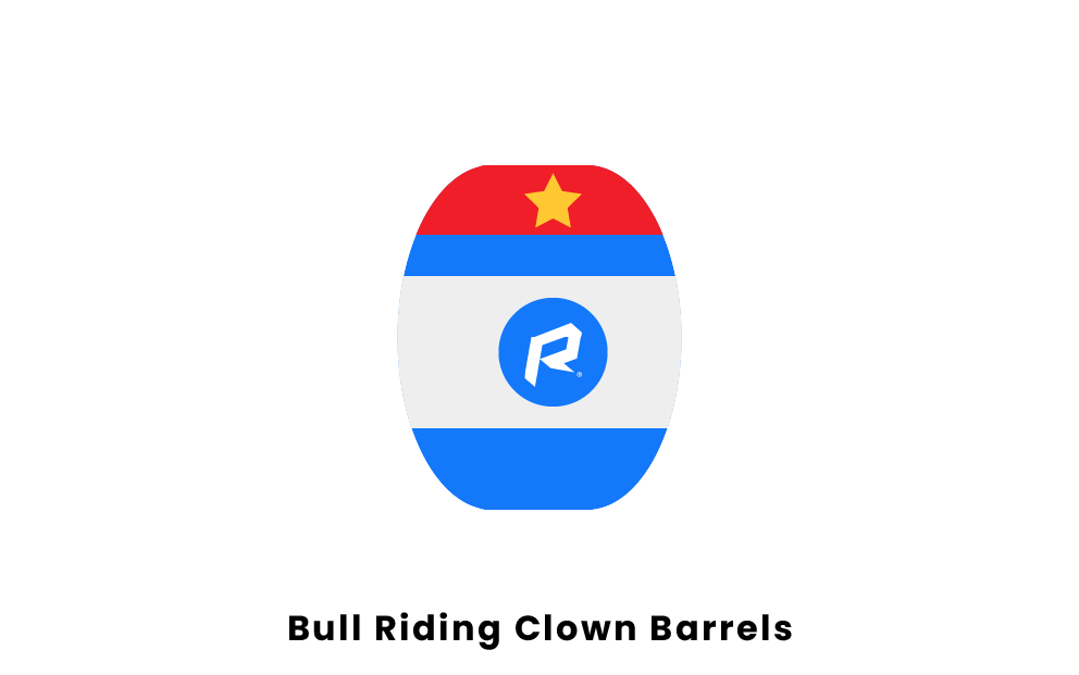 Bull Riding Clown Barrels
