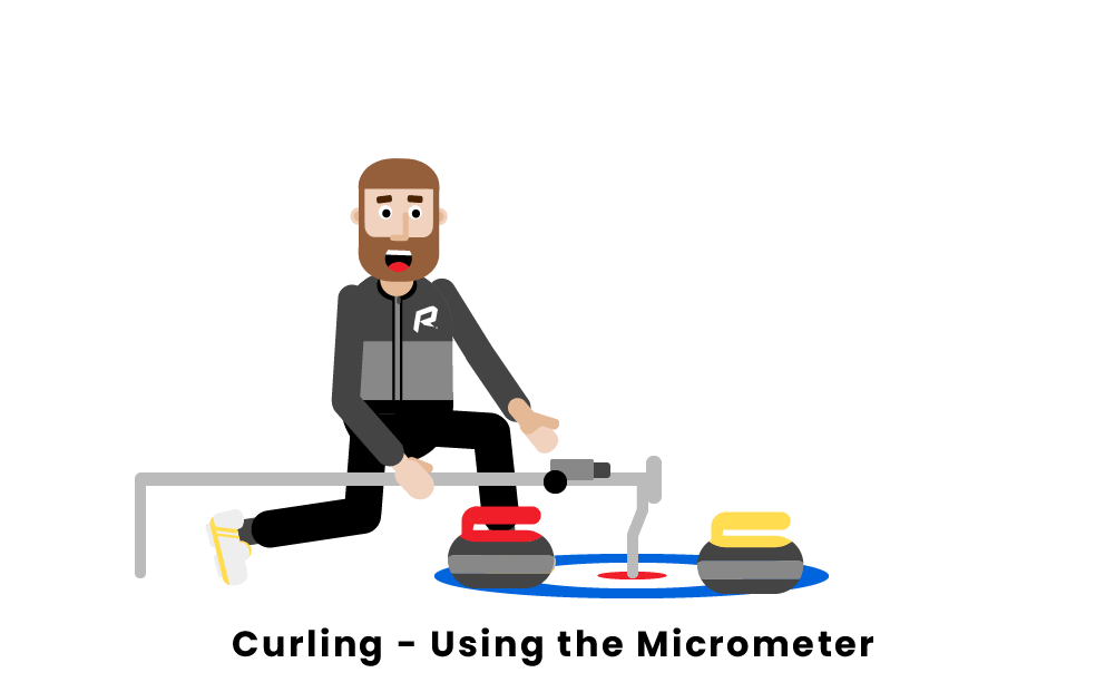curling using the micrometer
