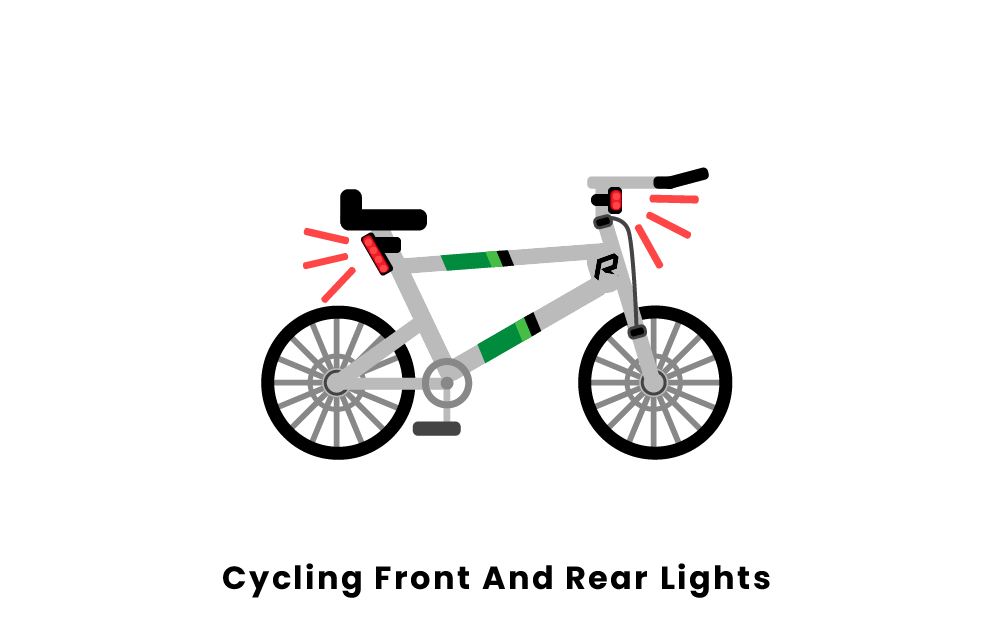 cycling front and rear lights