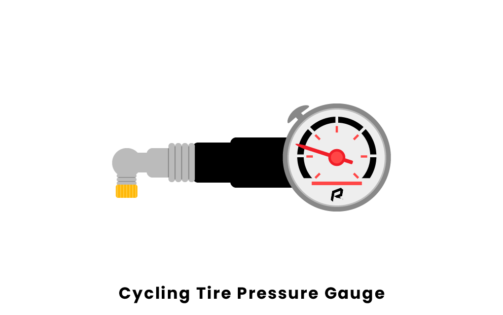 cycling tire pressure gauge