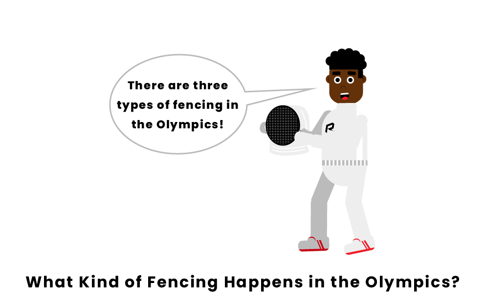 What type of fencing is in the Olympics?