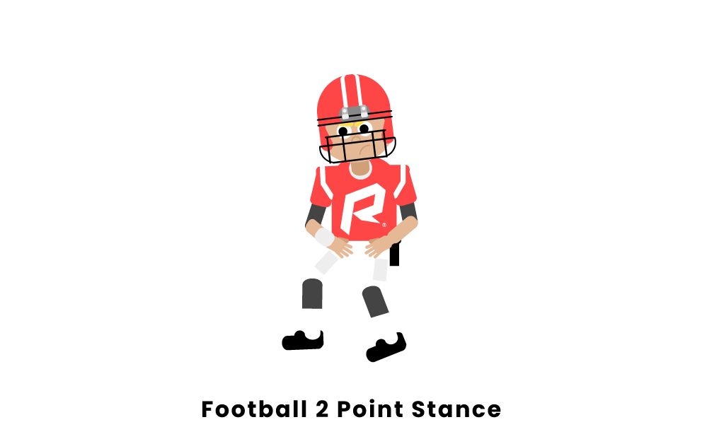 Football 2 Point Stance