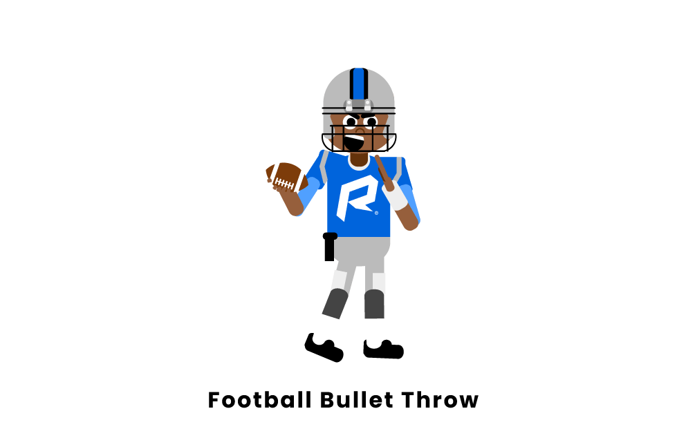 Football bullet throw