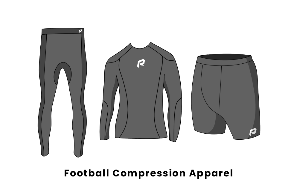 football compression apparel