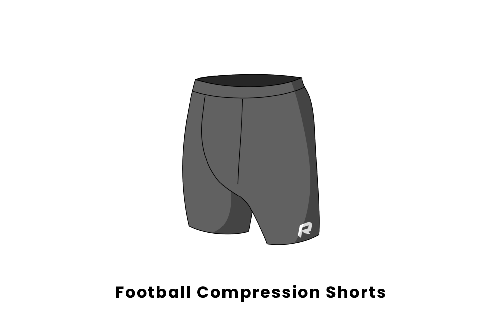 football compression shorts