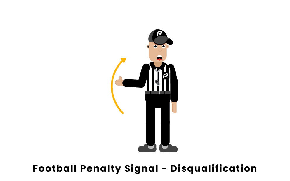 football penalty signal disqualification