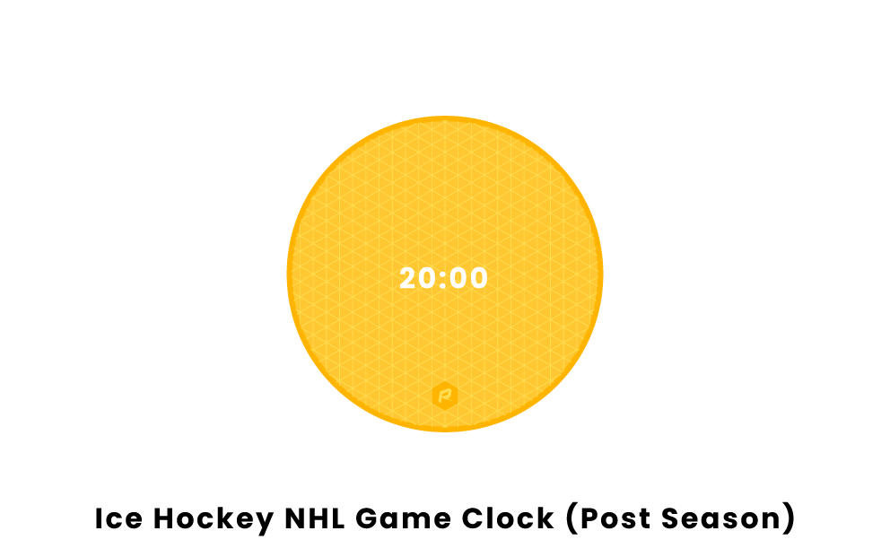 Hockey NHL Post Season Game Clock