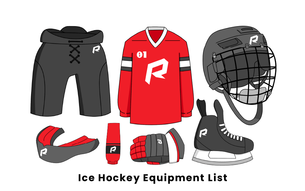 Ice Hockey equipment list