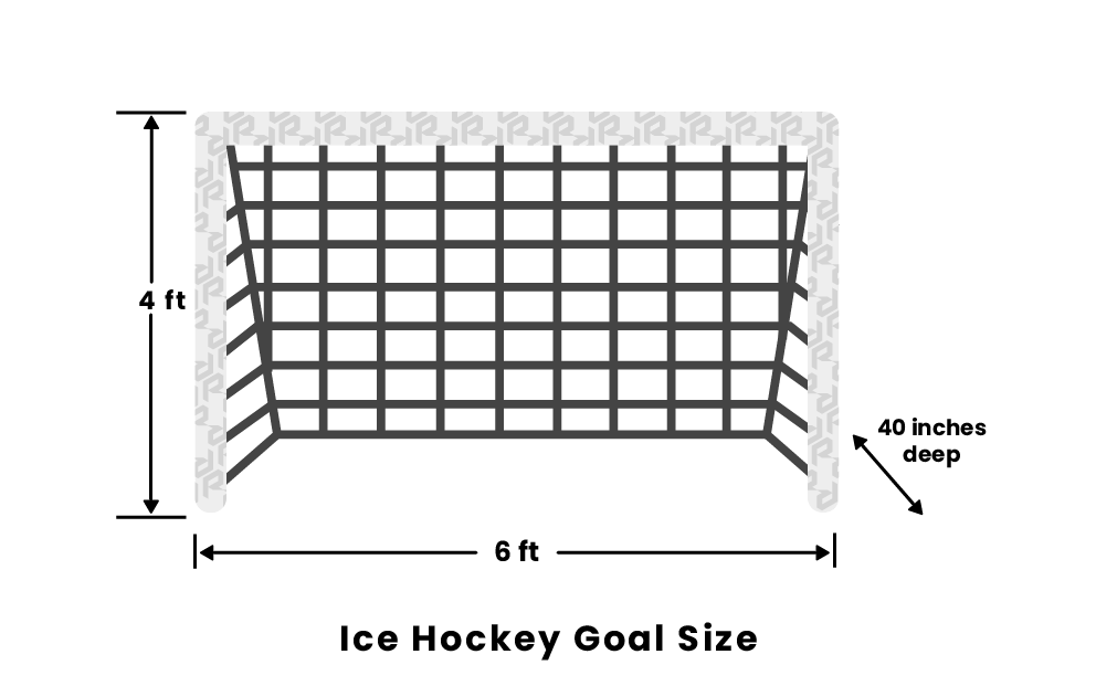 Ice Hockey Goal Size