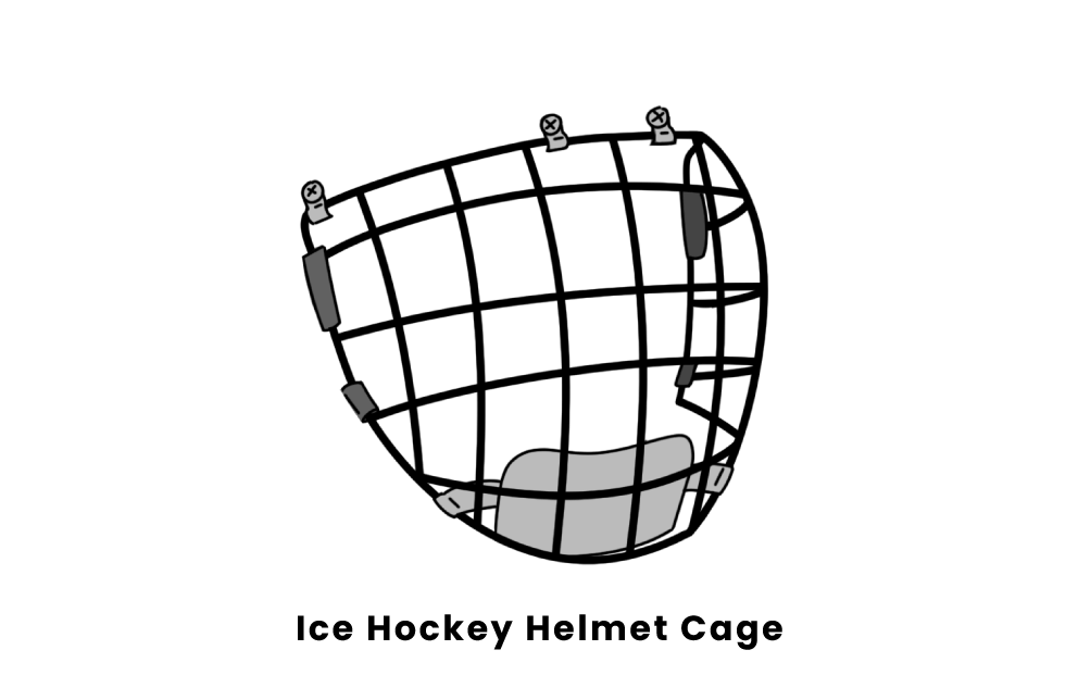 ice hockey helmet cage
