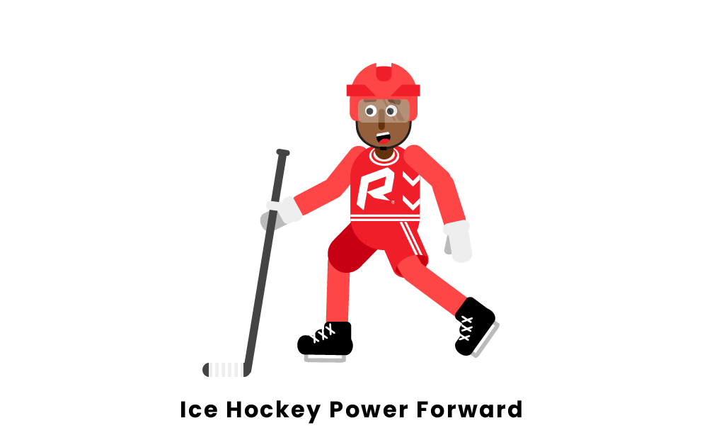 Ice Hockey Power Forward