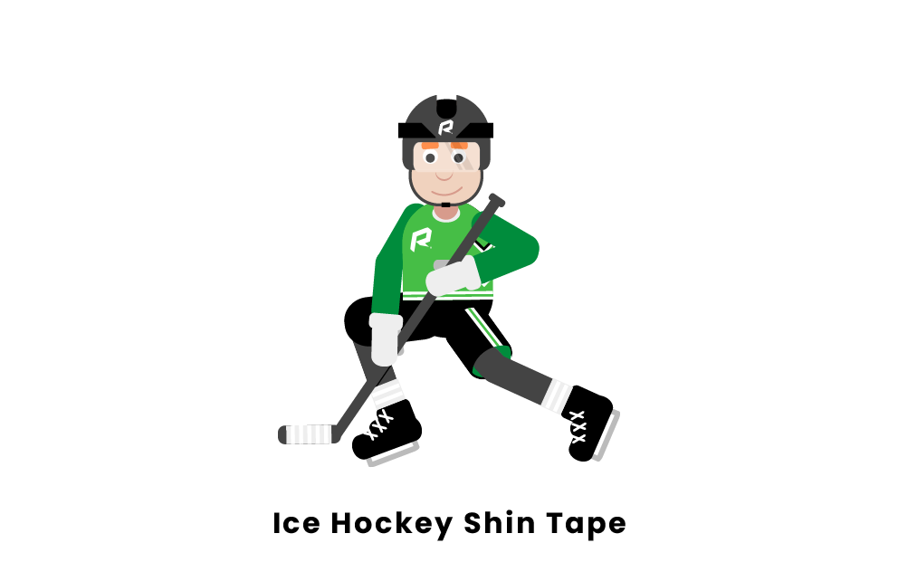 ice hockey shin tape