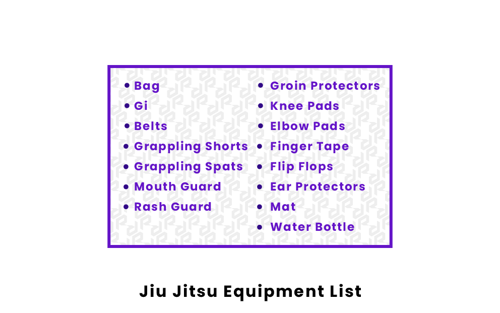 jiu jitsu equipment list