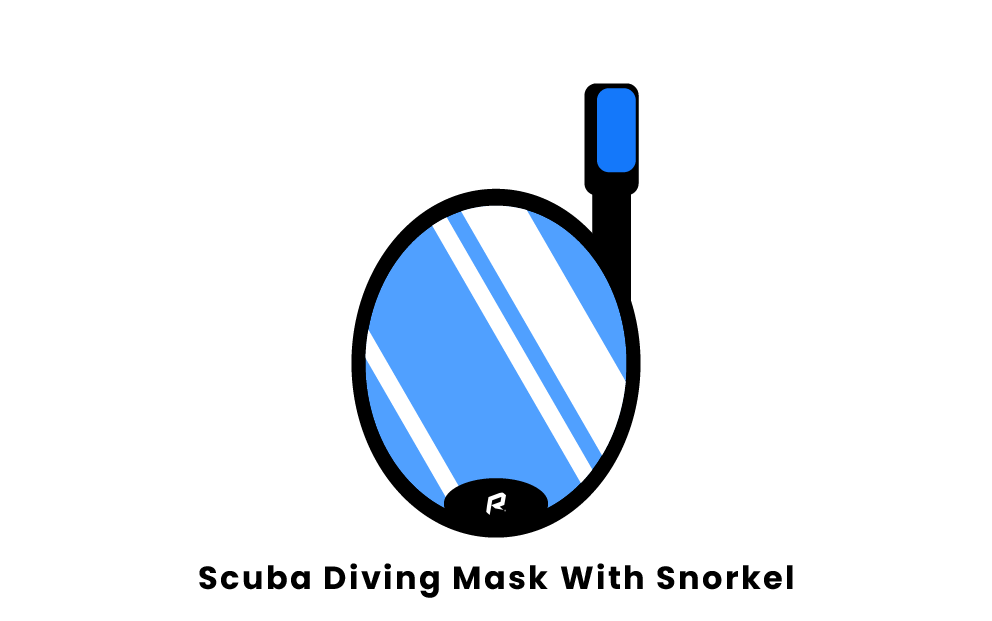 scuba diving mask with snorkel