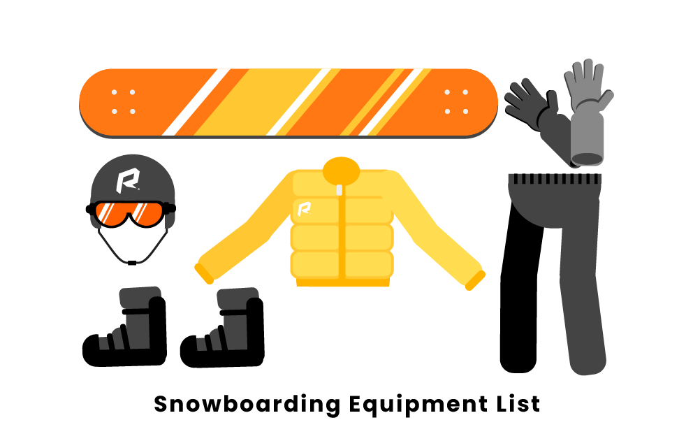 snowboarding equipment list