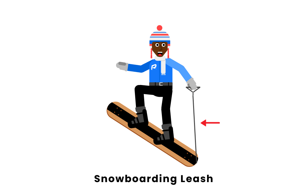 snowboarding leash
