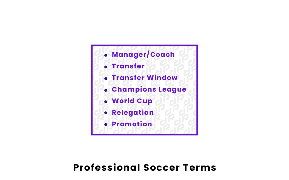 professional soccer terms