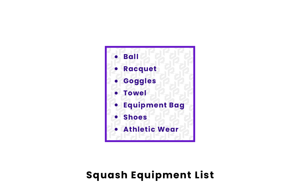Squash Equipment List