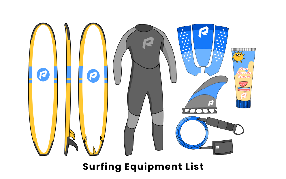 surfing equipment list