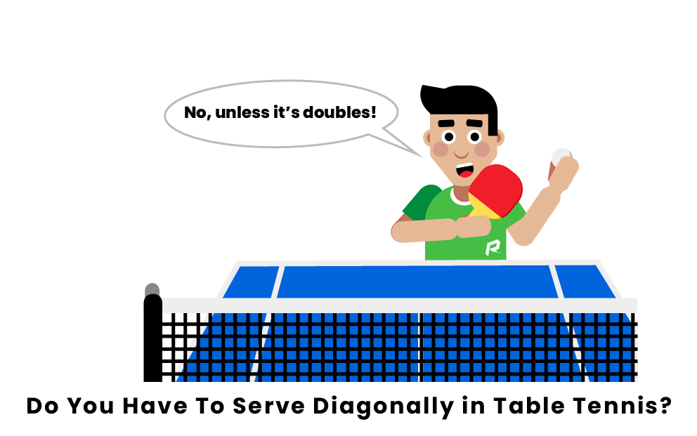 Do You Have To Serve Diagonally in Table Tennis?