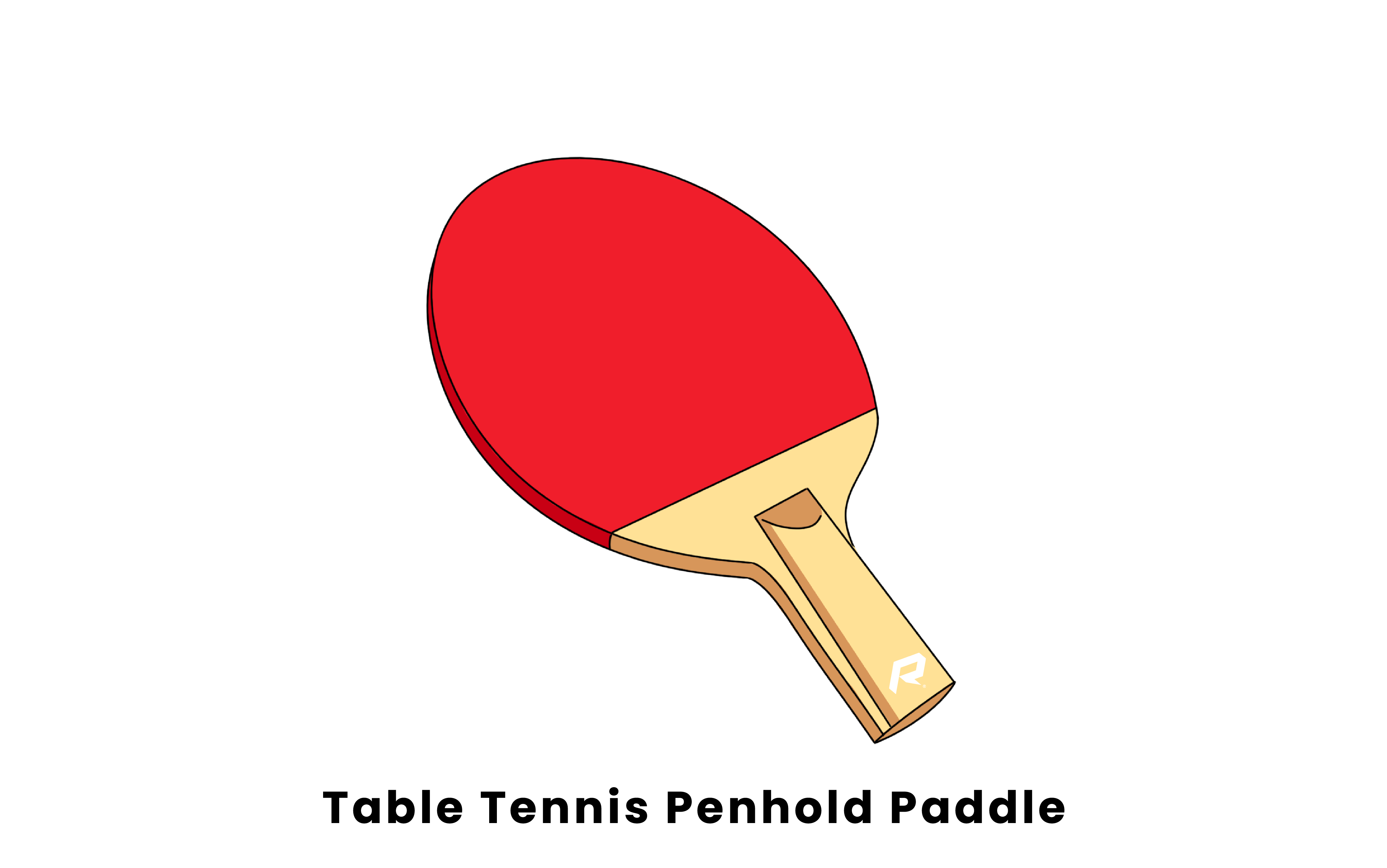 Table Tennis penhold paddle