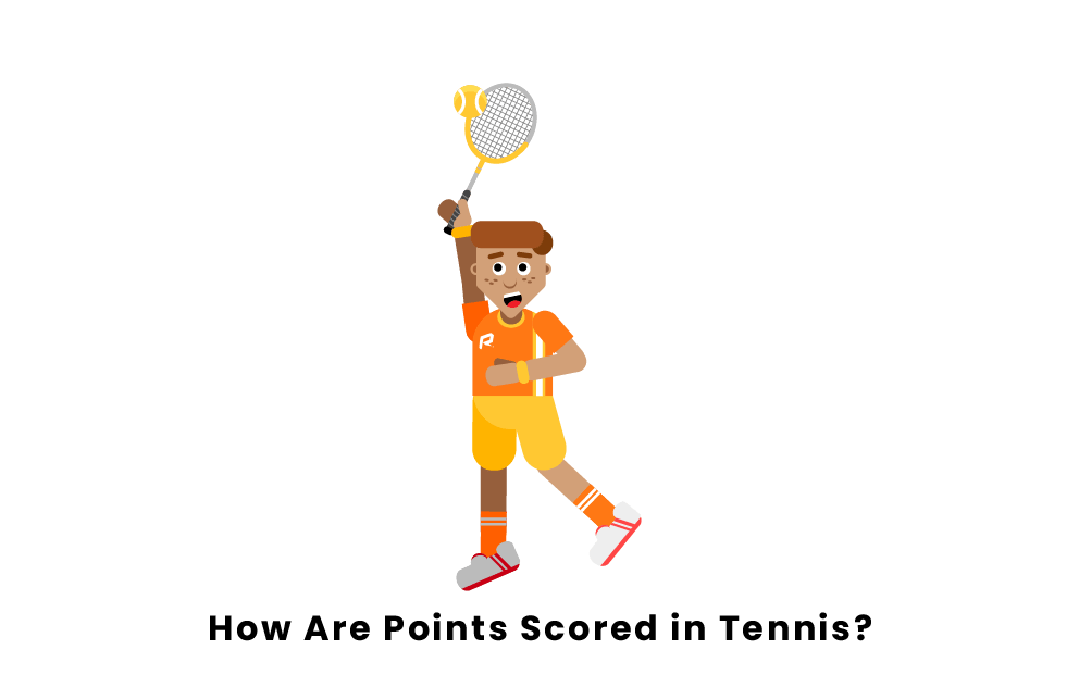 How are points scored in tennis?