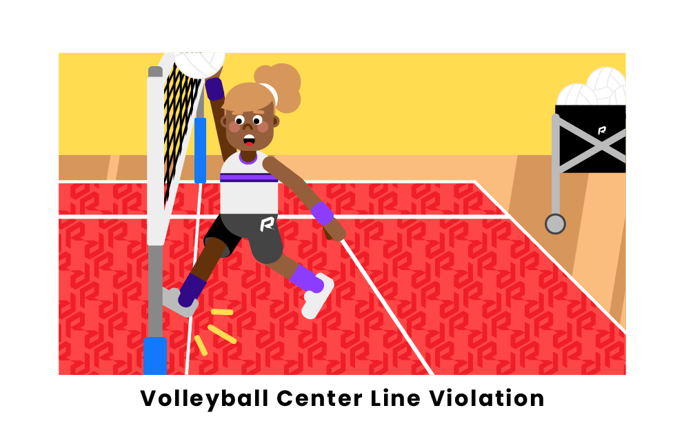 Volleyball Center Line Violation